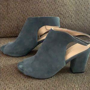 Blue Suede peep toe heel-Size 8.5